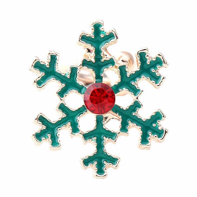 <グリーンピアッシング> クリスマスイヤーカフ(クリスマスツリー)