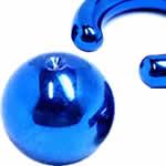 ブルーチタンクリップイン(ビーズリング用)ボール