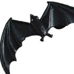 <グリーンピアッシング> ドラキュラ イヤーラップ 蝙蝠 /ブラック画像