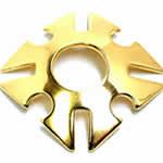 <グリーンピアッシング> ゴールドプレート トライバルニップルディスク画像