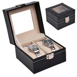時計ディスプレイケース /2本用・ブラック