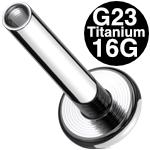 <グリーンピアッシング> チタン インターナルラブレットシャフト 16G /3mmディスク