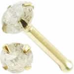 <グリーンピアッシング> ダイヤモンド(PK2/3.0mm)K14YG鼻ピアス