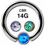 カモフラージュ CBR ボディピアス 14G /6mmボール