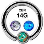 カモフラージュ CBR ボディピアス 14G /8mmボール