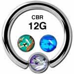 カモフラージュ CBR ボディピアス 12G /6mmボール