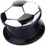 サッカーボール 樹脂製タッパーフレア ボディピアス