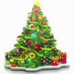 クリスマスツリー フラットアクリル樹脂 アクセサリーパーツ