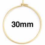 ゴールドステンレスワイヤーフープ ピアス /33x30mm