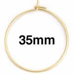 ゴールドステンレスワイヤーフープ ピアス /38x35mm