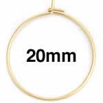 ゴールドステンレスワイヤーフープ ピアス /24x20mm