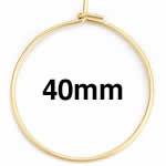 ゴールドステンレスワイヤーフープ ピアス /44x40mm