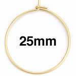 ゴールドステンレスワイヤーフープ ピアス /28x25mm