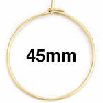 ゴールド ステンレスワイヤー フープピアス /49x45mm