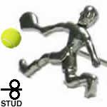 テニスプレイヤー シルバー925 スタッドピアス