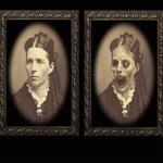 女性の肖像画 3Dゴーストフォトフレーム