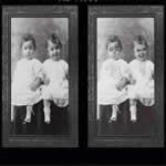 双子の赤ちゃん 3Dゴーストフォトフレーム