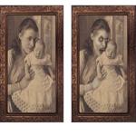 母と子供 3Dゴーストフォトフレーム