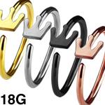 SUS316Lティアラシームレスリング ボディピアス 18G