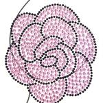 ピンクローズ胸元用ジェムボディステッカー