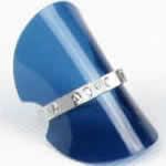ソフトリングスタンド 指輪用/ブルー
