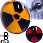 放射線マーク ステンレスピアス