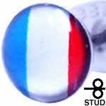 フランス国旗 ステンレス ピアス