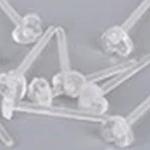 透明 ハート 樹脂ピアスポスト /10個セット