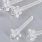 透明 スター 樹脂ピアスポスト / 10個セット