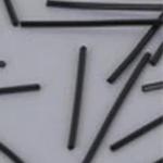 ブラック0.7mm樹脂ポスト ピアス /20個セット