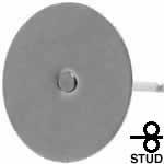 フラット丸皿10mmステンレスポスト金具 ピアス