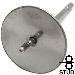 8mm芯立ちフラット台座 ステンレス ピアス ポスト金具