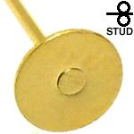 フラット丸皿5mm ゴールドステンレス DIY ピアス金具