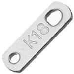 K18刻印ステンレスパーツ/1個販売