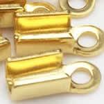 2.7mmコード用 ゴールド ステンレスエンドパーツ