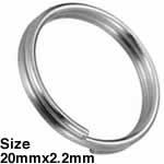 ステンレス キーホルダーリング /20mmx2.2mm
