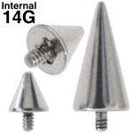 スパイクコーンインターナルキャッチ ボディピアス 14G