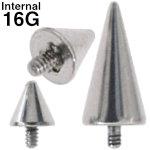スパイクコーンインターナルキャッチ ボディピアス 16G